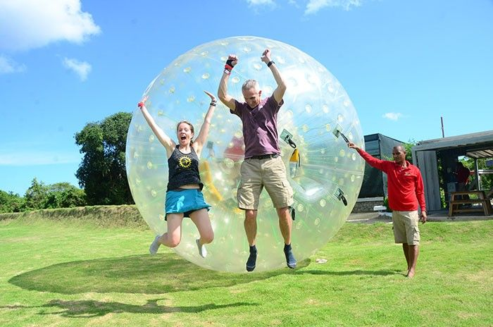 Zorbing at Bavaro Adventure Park, Punta Cana