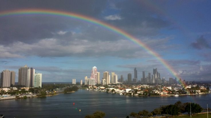 Rainbow over Surfers Paradise