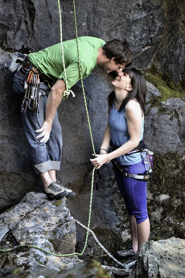 Rock climbing Engagement photography.