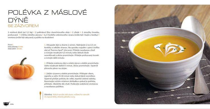 Polévka z máslové dýně, recept Tefal Uniflex