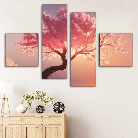 Τετράπτυχος πίνακας σε καμβά Dream tree