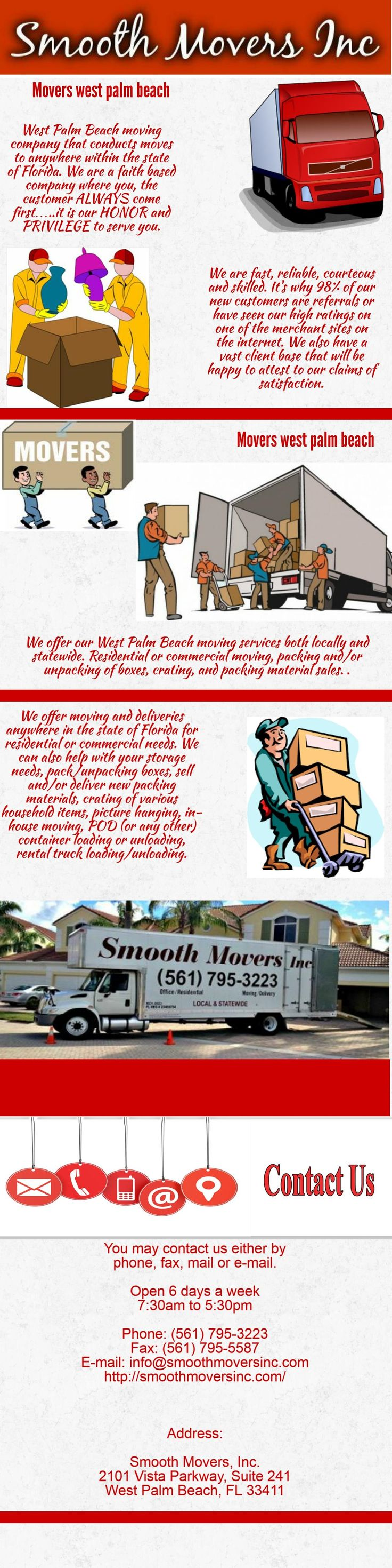 Looking for best west palm beach movers? Contact us, We offer in-house moving, container or rental truck loading/unloading, storage, etc. We offer quality staff, quality service and quality moving equipment on each and every job.For more info visit us