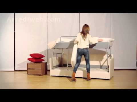 Divano letto a castello M2060 - Sofa bed Made in Italy Arrediweb - YouTube