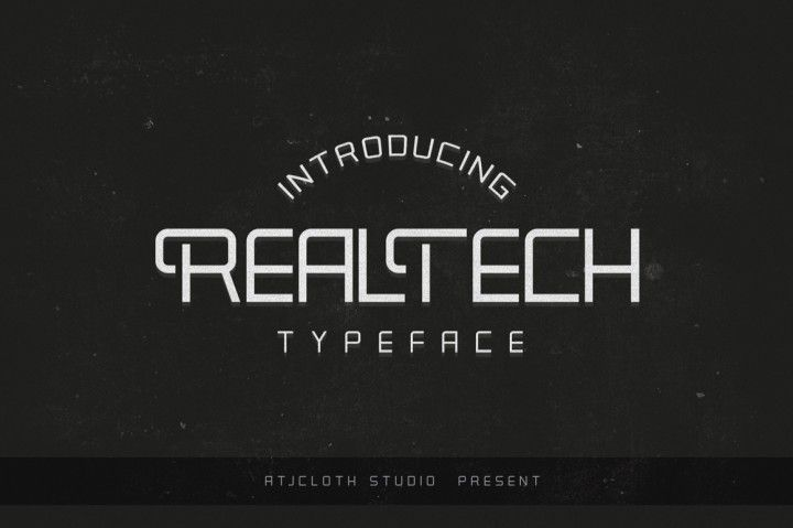 Real Tech Typeface is a gorgeous sans serif font that will easily become a modern and classic typeface in your design. It featured to help you to uses for Labeling, Logo, Clothing, Movie title, Comic title, gigs or album cover. Real Tech Typeface available in .OTF and .TTF formats. Please contact me if you have any questions about it atjcloth@gmail.com thanks for purchasing and enjoy the font