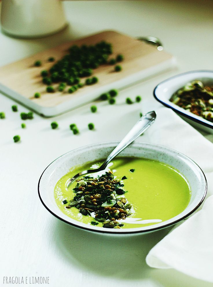white asparagus and pea soup