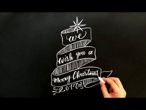 クリスマスにチョークアート(chalkart:christmas)