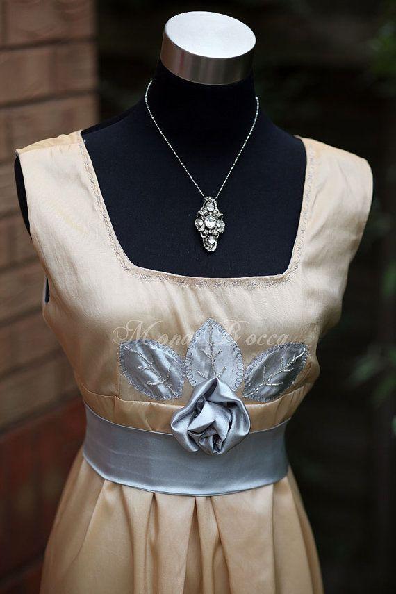 Edwardian evening dress handmade in England Lady Mary door MonaBocca