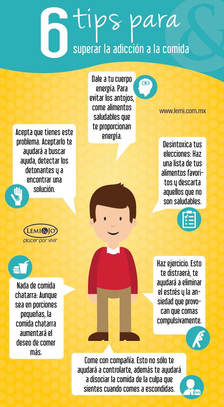 Infografía: 6 tips para enfrentar la adicción a la comida