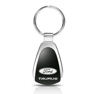 Ford Taurus Laser Etched Black Teardrop Keychain
