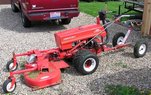 1965 Gravely 4 Wheel Tractor : Best gravely walk behind tractor i couldn t do without