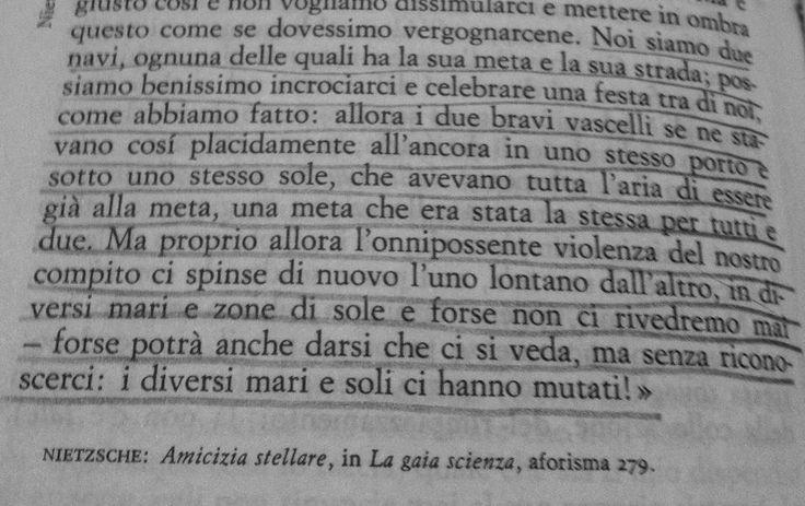 Nietzsche, La gaia scienza.