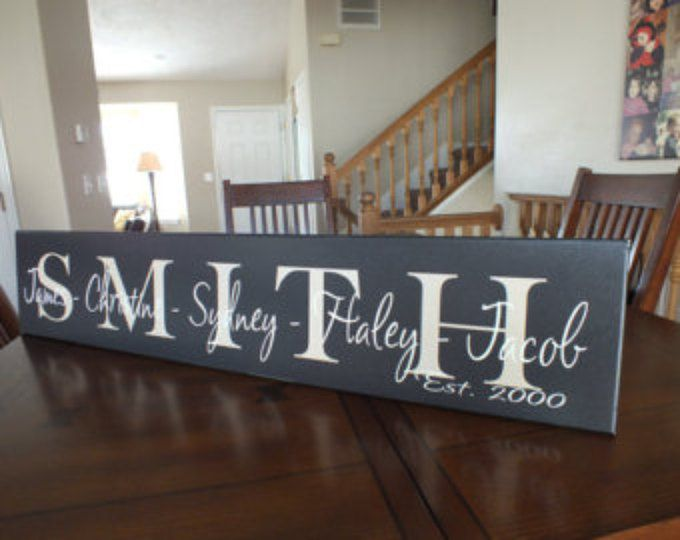 Personalized Family Name Sign Family Name Sign Last Name