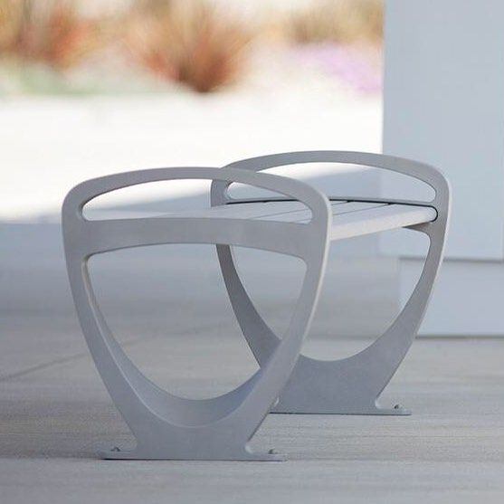 Our Trio #Bench serves up a fresh sculptural form & construction durable enough for the most challenging outdoor environments