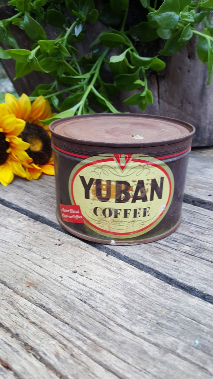 Vintage Metal Yuban Coffee Tin by SweetwaterFarmsTrade on Etsy