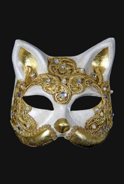 Venezian mask - Gatto Macramé Gold