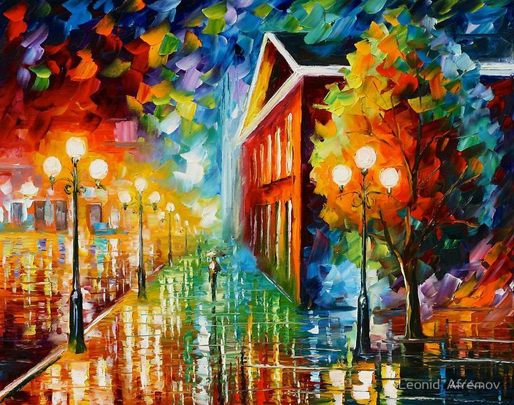 Night Peace Most Popular Oil Paintings By The Legend Leonid Afremov