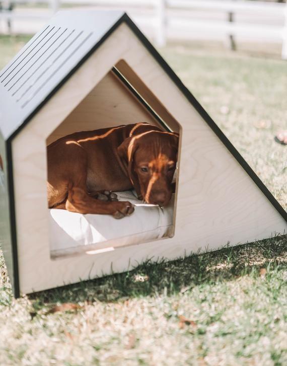 Modern Dog House Indoor Wooden Dog House Dog Kennel Dog Etsy In 2020 Modern Dog Modern Dog Houses Wooden Dog House