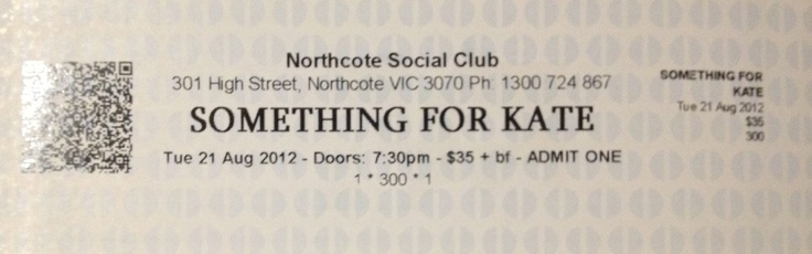 Something For Kate, Melbourne, 2012