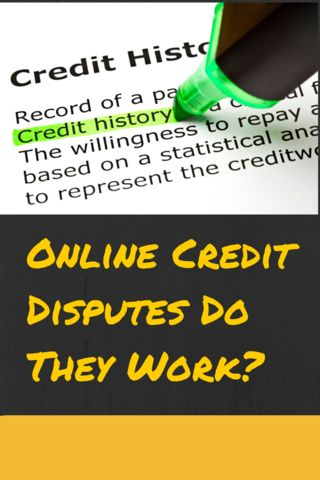 Online Credit DisputesDo They Work-