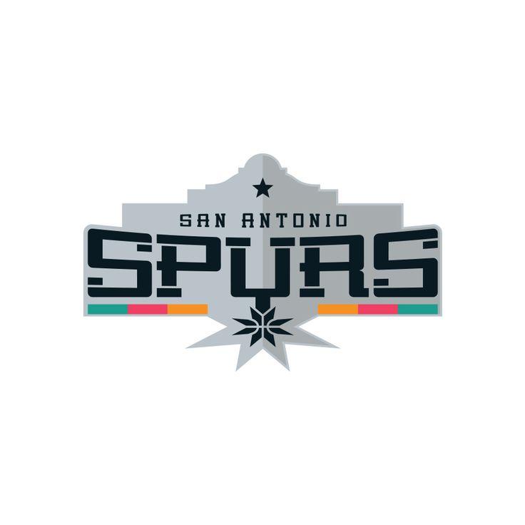 Nba logo redesign san antonio spurs on behance graphic