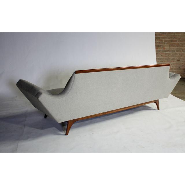 Image of Pearsall Gray Gondola Style Sofa