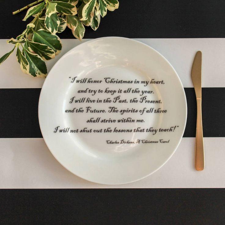 christmas carol side plate gift set by vincent van doodle…