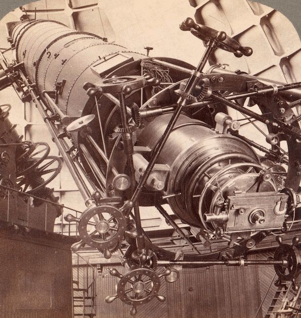 36-inch equatorial telescope refractor at Lick Observatory, Mount Hamilton, California in 1902