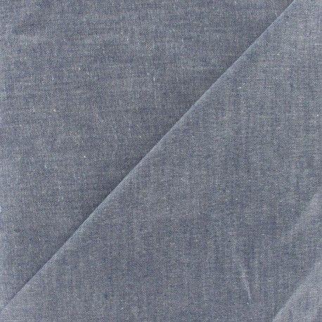 Tissu Chambray marine x 10cm - Ma Petite Mercerie