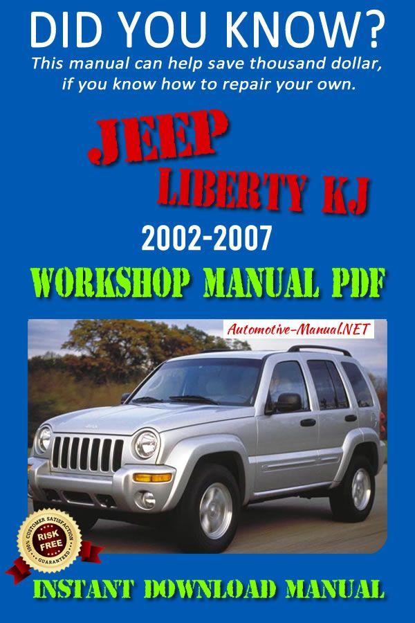Download Jeep Liberty Kj 2002 2007 Workshop Manual Pdf Jeep Liberty Jeep Liberty Kj Jeep
