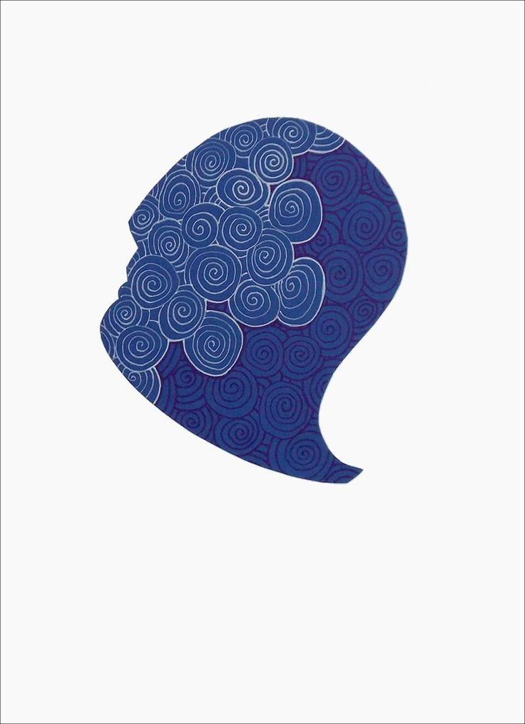 """andrea mattiello """"Blu"""" pennarello e collage su cartoncino cm 25x35; 2013 #andreamattiello #arte #artecontemporanea #art #contemporaryart #artistaemergente #emergingartist #artforsale #livinart"""
