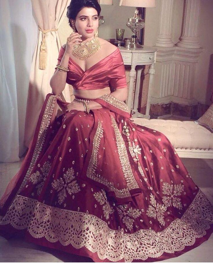 Samantha Prabhu # Anushree reddy # bridal look # lehenga #