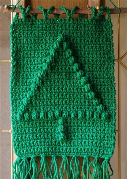 Crochet Christmas Tree Wall Hanging Dish Cloth Free