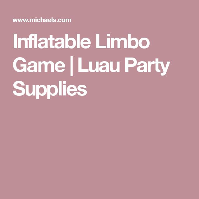 Inflatable Limbo Game | Luau Party Supplies