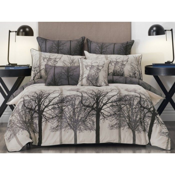 Stag Black Quilt Cover Set by Bianca