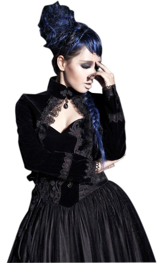 Boléro Gothique Victorien Punk Rave orné de broderies pour un style très  chic et romantique!