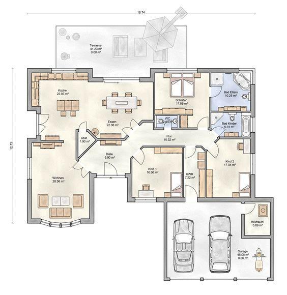 berger massivhaus somnium grundriss erdgeschoss pl ny. Black Bedroom Furniture Sets. Home Design Ideas