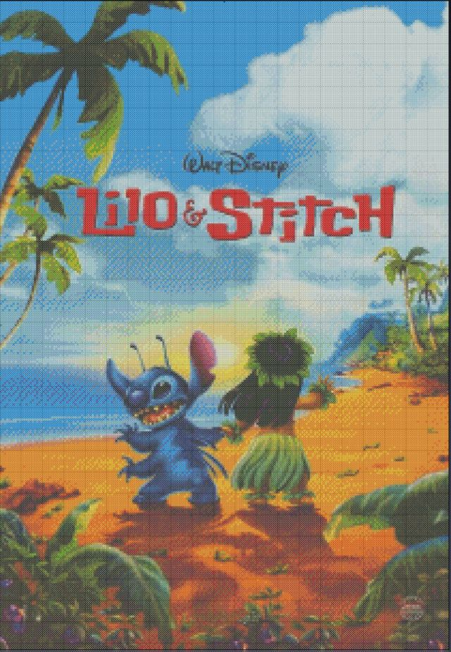 Aloha! This Lilo and Stitch poster is sure to make you feel right at home! Cross Stitch Pattern from Etsy shop Stitch and a Song only $5
