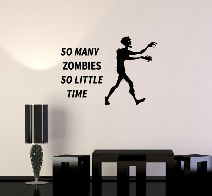 Vinyl Wall Decal Zombie Hunter Funny Quote Gamer Room Interior Stickers Mural (ig6009) –  – #GamerRoom|DIY