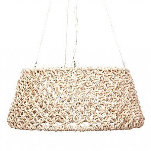 Natural Abaca Rope Chandelier