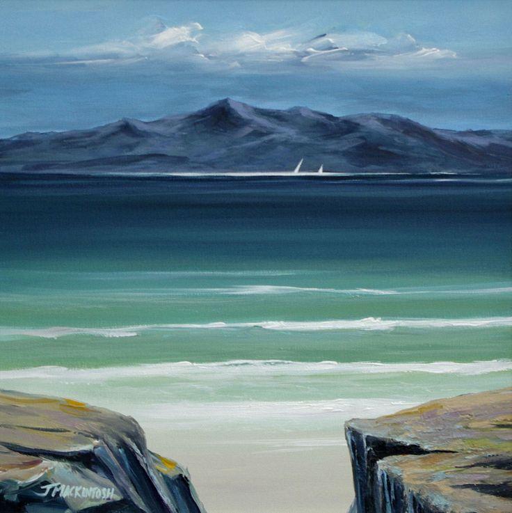 Distant Arran  by Scottish contemporary landscape painter J Mackintosh