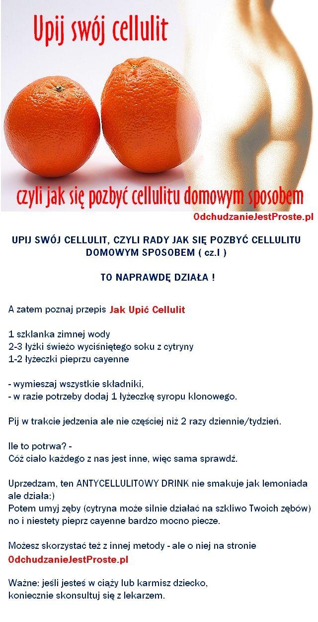 Domowy sposób na cellulit - Cz.I - upij swój cellulit