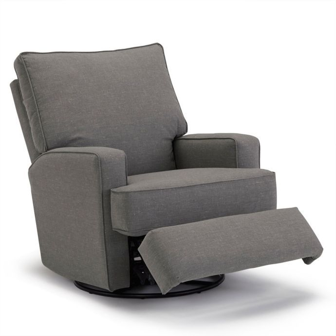 Outstanding Best Chairs Kersey Swivel Glider Recliner In Charcoal Ncnpc Chair Design For Home Ncnpcorg