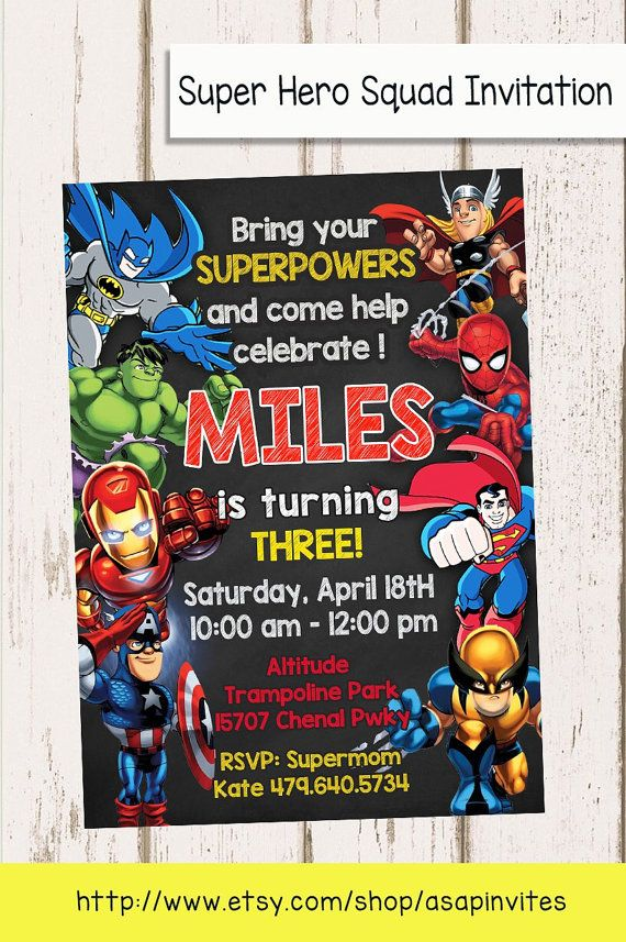 Superheroes Superhero Birthday Party Avengers Super by Asapinvites
