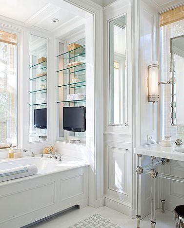 tub niche and vanity
