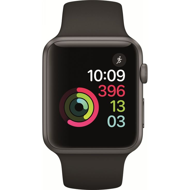 Apple Watch 1, dual-core, cu carcasa din aluminiu space grey, 42mm, Black Sport Band