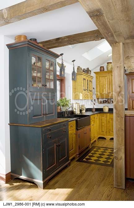 KITCHENS: David T Smith Furniture Style Cabinets Historic Paint .
