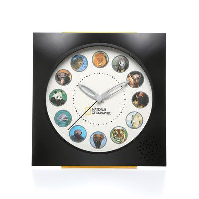 Koolatron National Geographic Animal Sounds Wall Clock