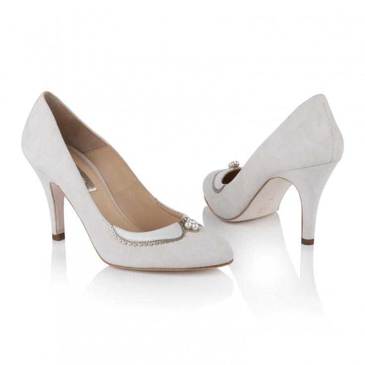 Catherine Ivory Suede Shoes, £175, Rachel Simpson