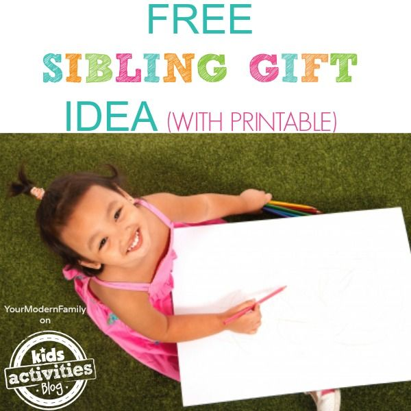 free sibling gift with printable - sibling gift certficates