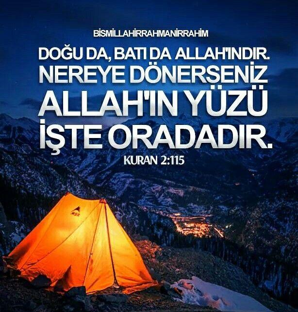 ☝ Doğu da, Batı da Allah'ındır. Nereye dönerseniz Allah'ın yüzü işte oradadır. Şüphesiz Allah, lütfu geniş olandır, hakkıyla bilendir.  [Kur'an-ı Kerim 2:115]  #doğu #batı #Allah #şüphesiz #heryerde #islam #müslüman #turkiye #ilmisuffa